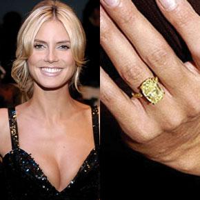 yellow diamond engagement ring heidi klum