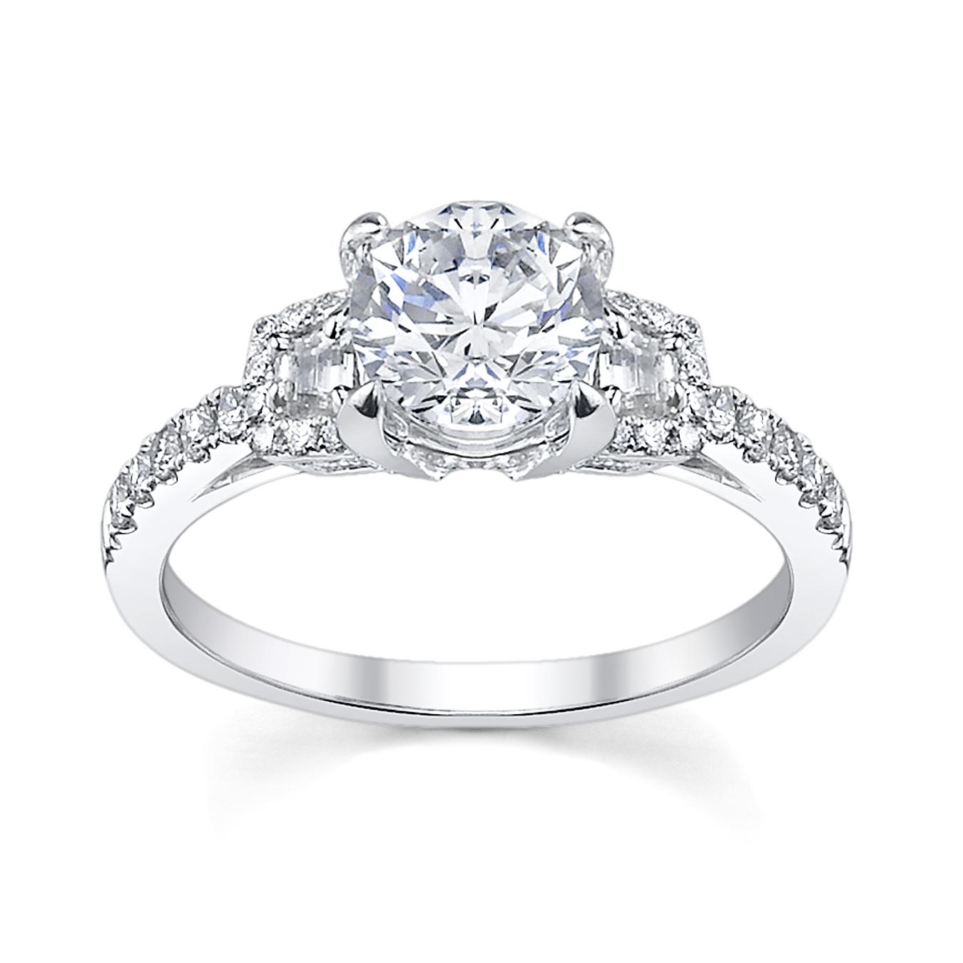 tacori 2578 rd 9 wedding ring the knot fancy pave diamond
