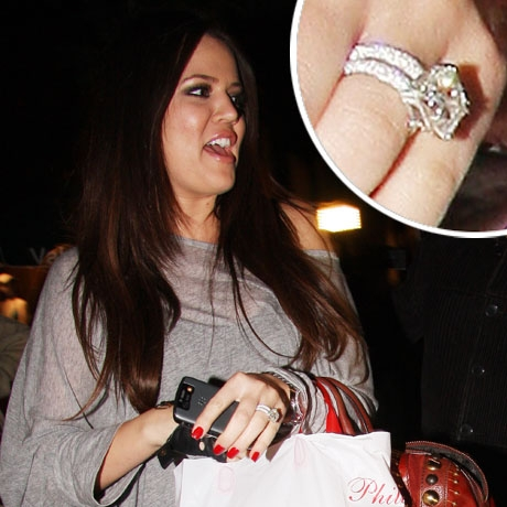 khloe kardashian engagement ring - Khloe Kardashian Wedding Ring